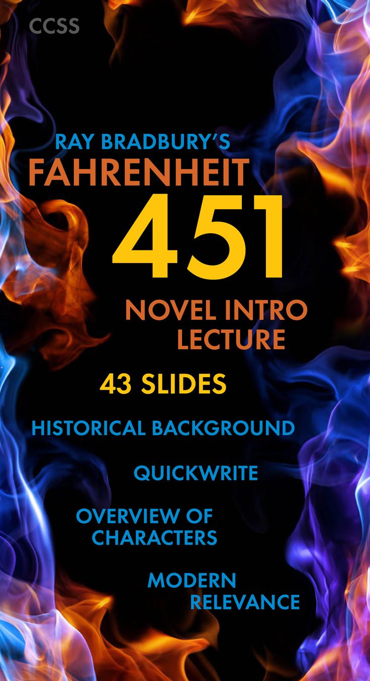17 best images about fahrenheit 451 lesson plans fahrenheit 451 introductory lecture slides for bradbury s sci fi novel ccss