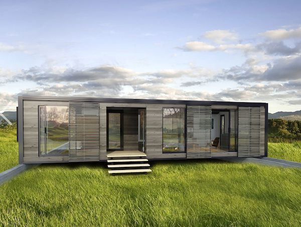 modern eco green modular home design