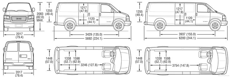 Superb Cargo Van Interior Dimensions  3 Chevy Express
