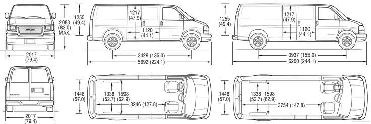 Superb Cargo Van Interior Dimensions #3 Chevy Express Cargo Van Dimensions