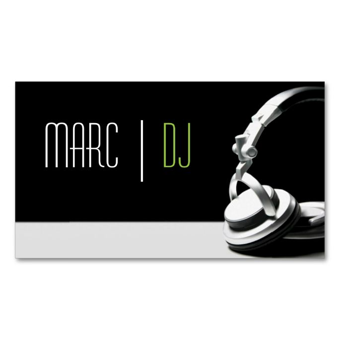17 Best images about DJ Business Cards – Club Card Design