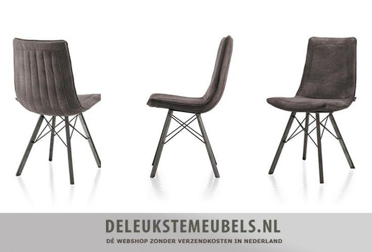Deze hippe stoel Thora  is een aanvulling voor jouw interieur! Het stoeltje is uitgevoerd in Talamanca coffee, een microvezelstof die heerlijk zacht en warm aanvoelt. Deze stof is geschikt voor intensief gebruik en zeer eenvoudig te reinigen. De vintage metalen spinpoot geeft deze stoel een uniek uiterlijk! De achterkant van het stoeltje is ook zeker erg mooi om te zien, bovendien zit de Thora eetkamerstoel heerlijk!   De hoogte van de zitting is 50cm