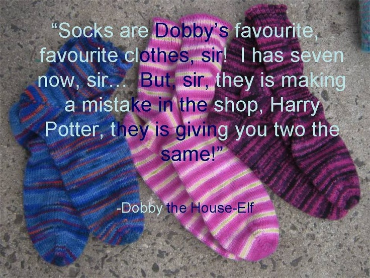 Dobby quote Harry Potter Pinterest Quotes, Sock and