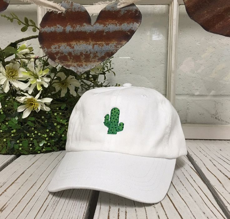 New Cactus Embroidery Baseball Cap White Low Profile Curved Bill Dad Cap by PrfctoLifestyle on Etsy https://www.etsy.com/listing/289528797/new-cactus-embroidery-baseball-cap-white