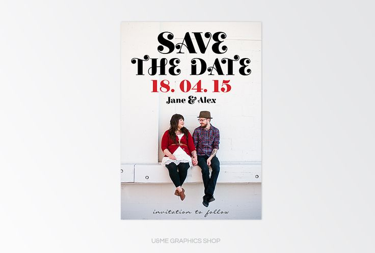 Save The Date Designs Cape Town South Africa - U&Me Graphics Shop   Bold Photo save the date card available for purchase