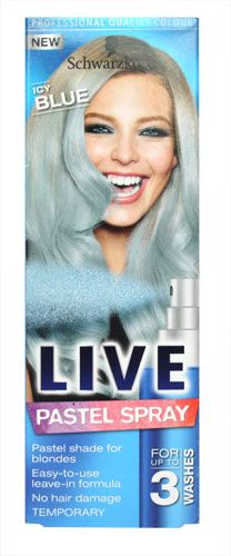 Schwarzkopf Live Pastel Temporary-Spray Icy Blue Schwarzkopf Live Pastel Temporary-Spray Icy Blue 125ml: Express Chemist offer fast delivery and friendly, reliable service. Buy Schwarzkopf Live Pastel Temporary-Spray Icy Blue 125ml online from Expre http://www.MightGet.com/may-2017-1/schwarzkopf-live-pastel-temporary-spray-icy-blue.asp