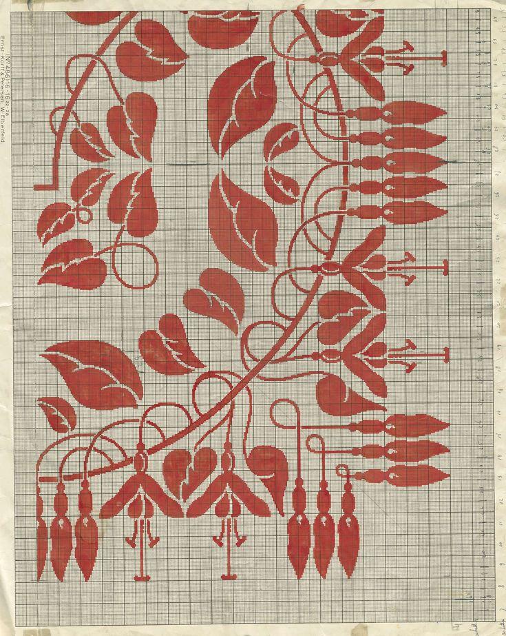 """Patroontekening voor een damasten tafellaken met dessin """"Fuchsia"""" en monogram RIL (Royal Interocean Lines), Cornelis van der Sluys, E.J.F. van Dissel"""