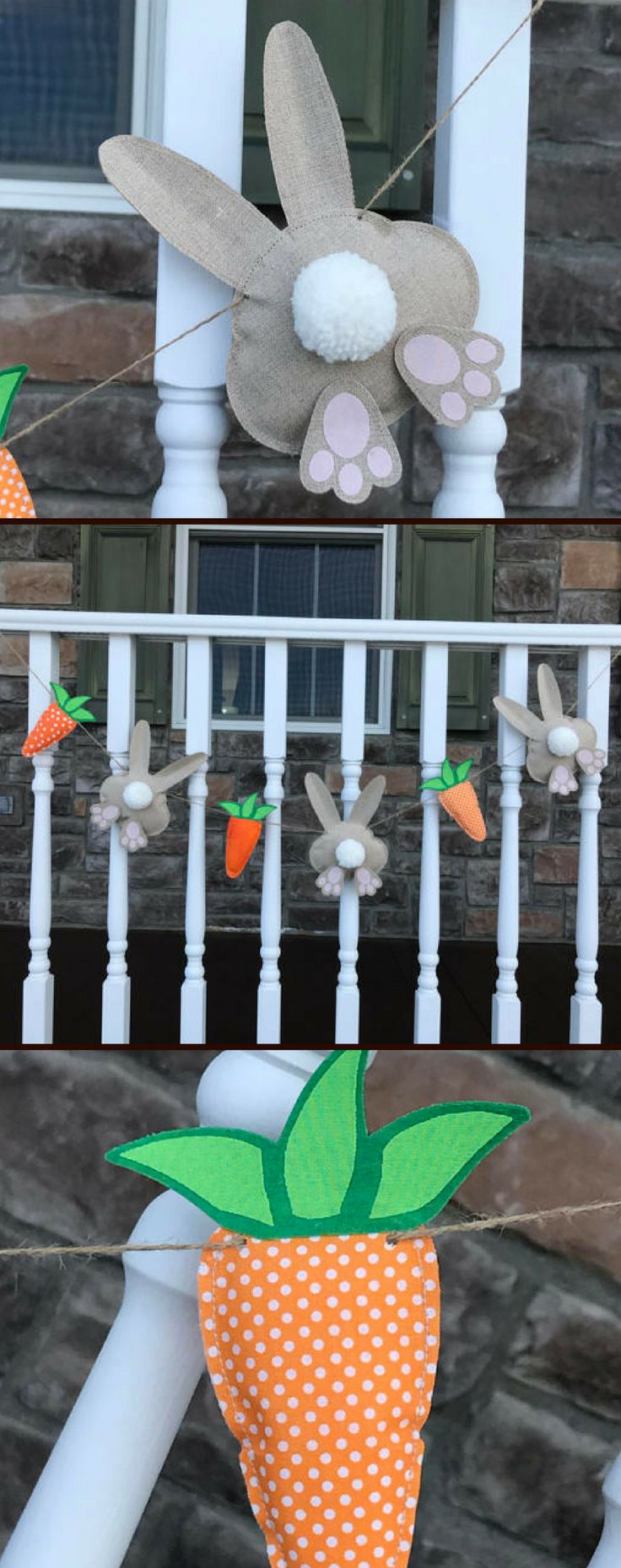 Stuffed bunny bums and carrot garland