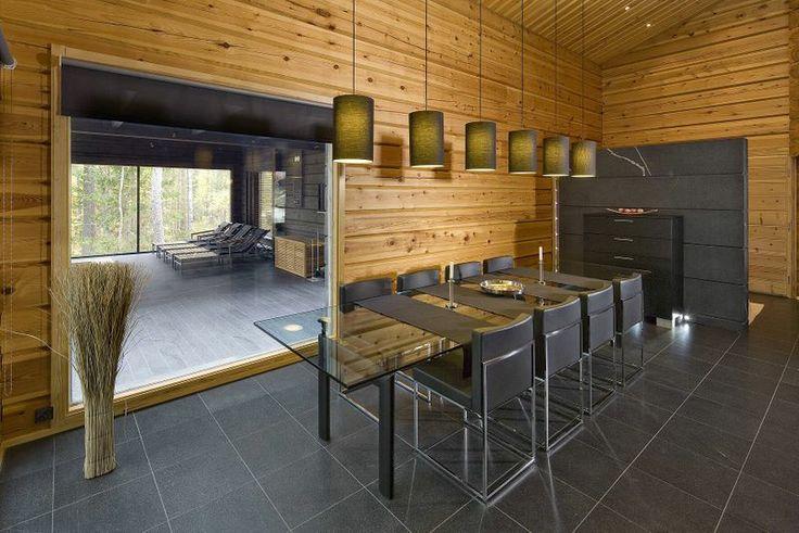 Salle à manger, intérieur maison madrier