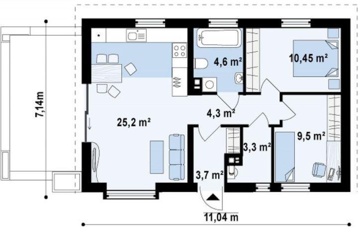 case mici sub 100 de metri patrati Small houses under 100 square meters 3