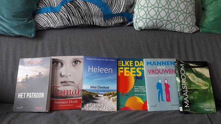 Op zoek naar een boeiend en leuk cadeau voor moederdag? Nou...wat dacht je van een goed boek? #moederdag #hetpatroon #wesseldevalk #tamar #moniquehoolt #heleen #johansteenhoek #elkedagfeest #susanamoraal #mannenenofvrouwen #bertoverbeek #maalstroom #pepperkay #thriller #roman #scifi #futurouitgevers