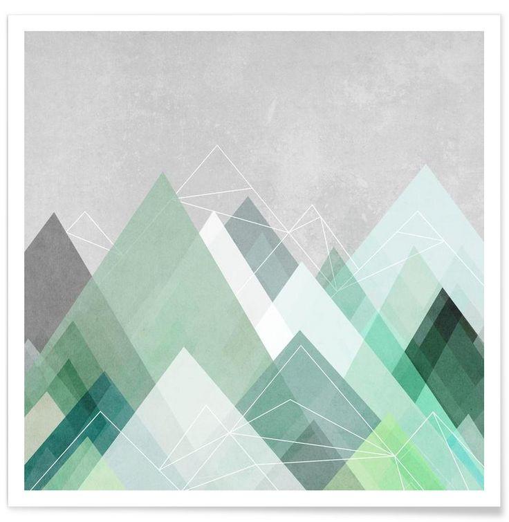 Graphic 107 als Premium Poster von Mareike Böhmer | JUNIQE