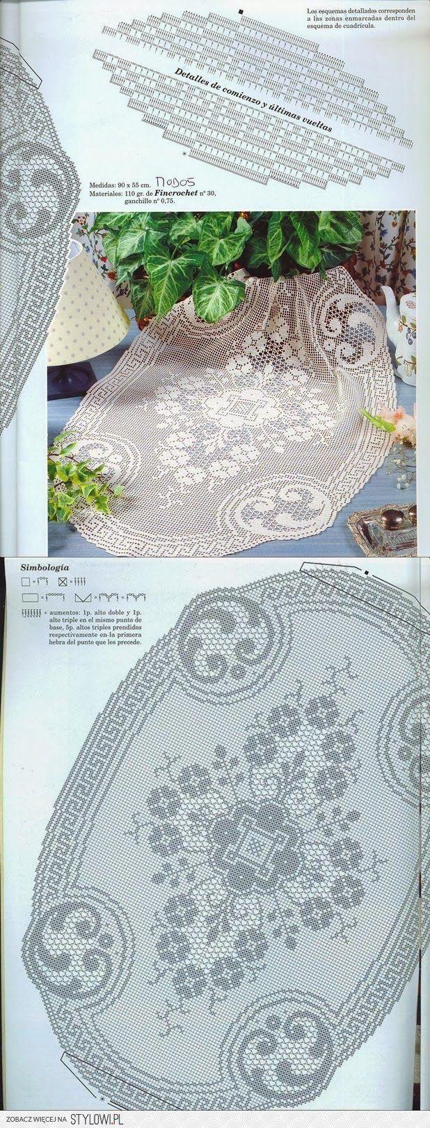 600 besten linad-linikud heegeldatud2- tablecloths crocheted Bilder ...