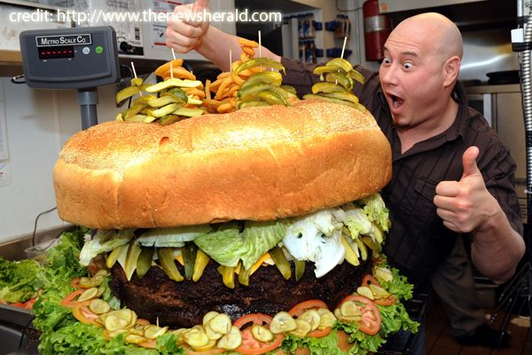 The biggest hamburguer.