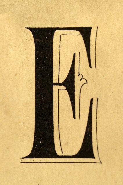 E Lettering Type Alphabet Font Design Vintage Retro