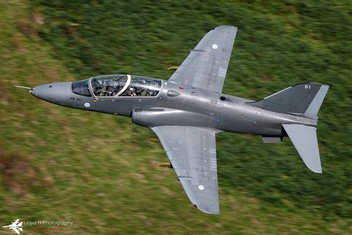 Finnish Air Force Bae Hawk Mk 51,at low level in the Mach Loop.