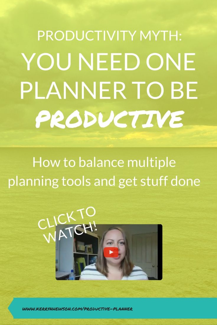 Watch to learn how to create a productive planner system for the New Year