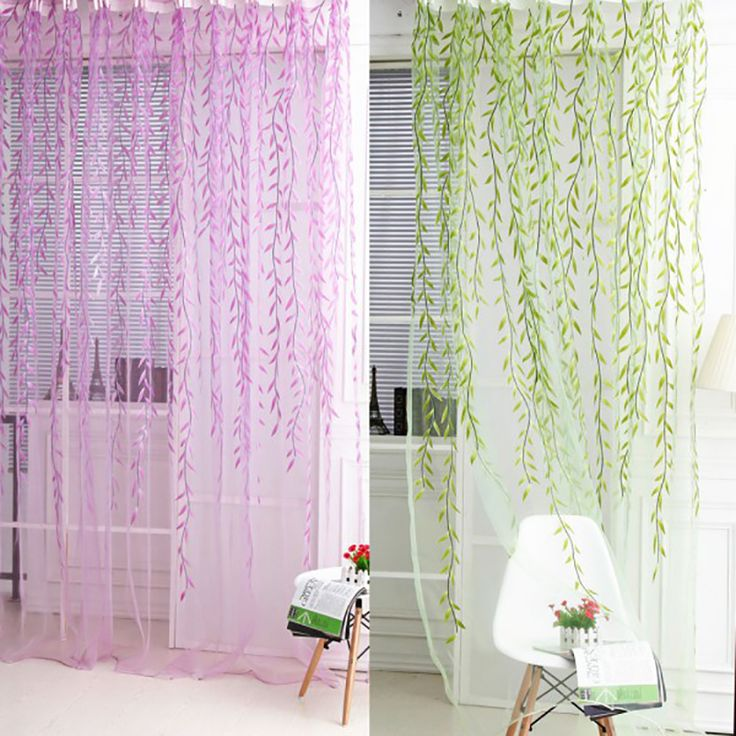 Cheap scarf valance, Buy Quality curtains drapes directly from China voile sheers Suppliers: Newest Door Window Decor Curtain Drape Panel Wicker Voile Sheer Scarf Valance Green Purple