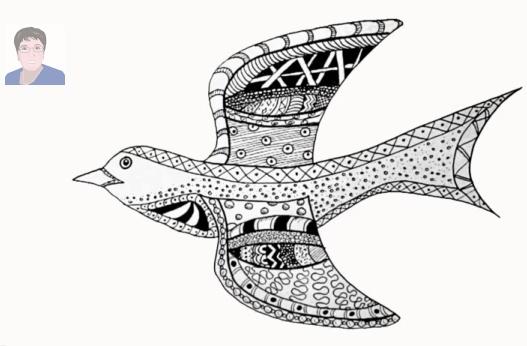Bird Doodle Art tutorial.