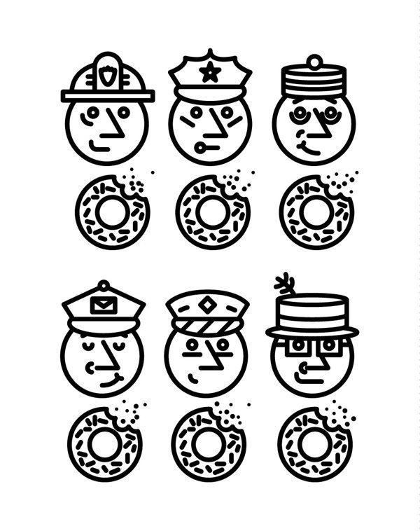 New York Mag Icons by Daniel Ting Chong, via Behance