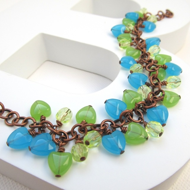 Blues, greens & copper, fab colour combo