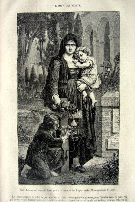 Curious rare antique engraving of  Day of the by LyraNebulaPrints