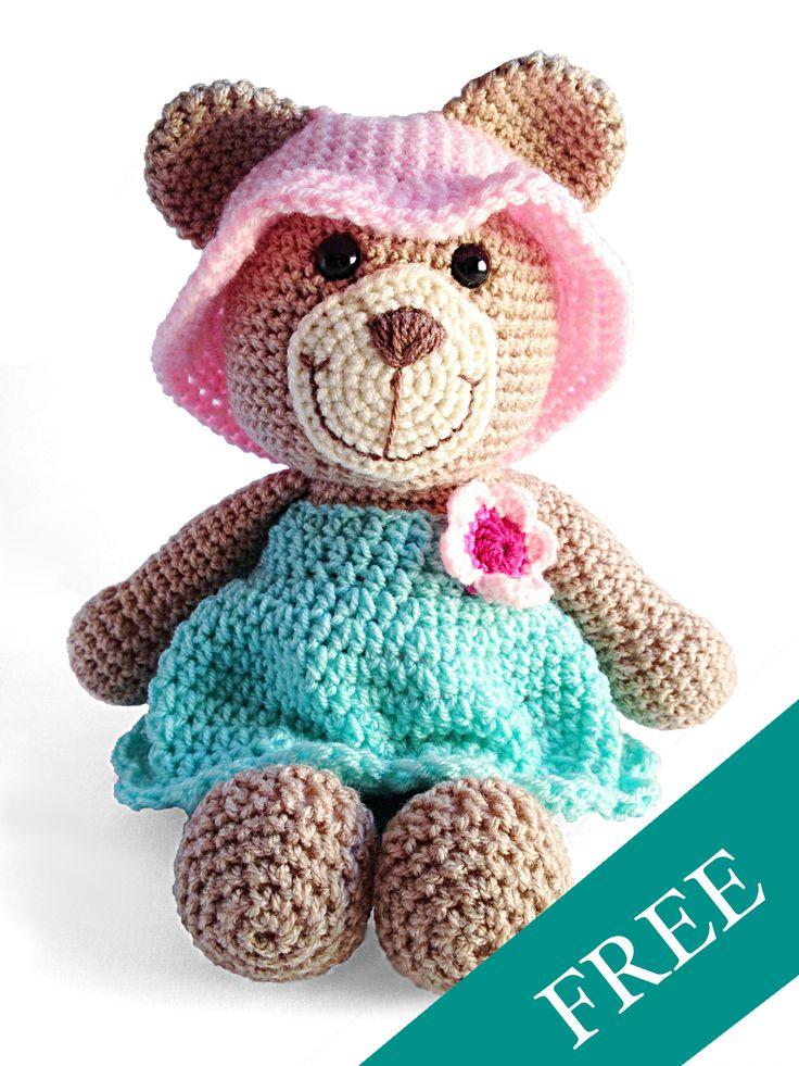 #free #kostenlos #pattern #anleitung #häkeln #crochet #teddy #baer #kinder #kuscheltier #german #deutsch #diy #handmade