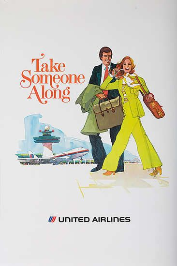 United Airlines  Take Someone Along  1970s