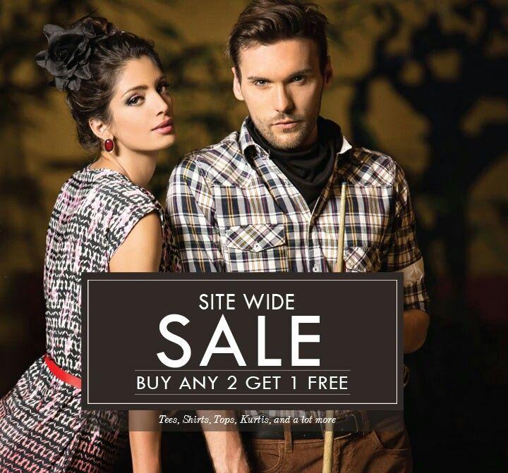 Site Wide Sale!  Buy 2 Get 1 FREE only @ www.stylecorner.in