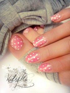White&Pink Polka Dots :): Pink Polka Dots, Nailart, White Polka, Nail Design, Polkadots, Polka Dot Nails, Nail Art