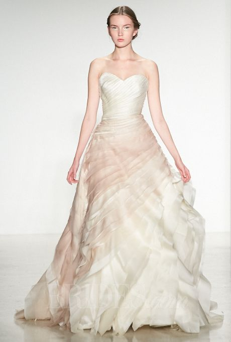 Brides.com: Kelly Faetanini Ombré Strapless Wedding Dress from Fall 2014 Collection | Click to see more from this collection!
