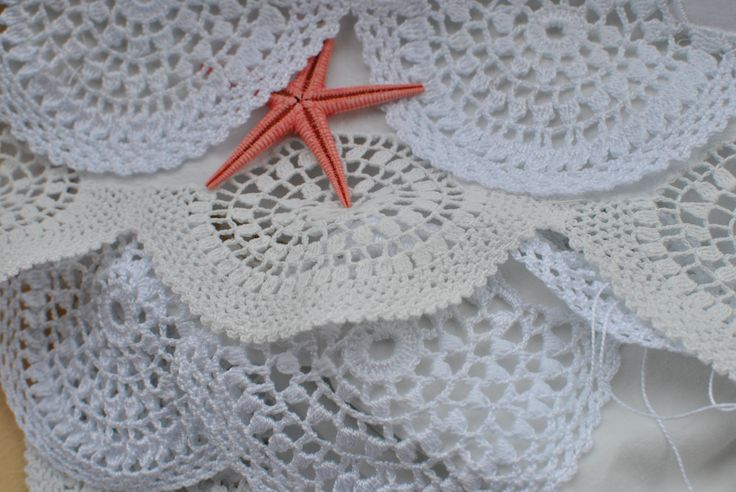 crochet -  puntillas para toallas