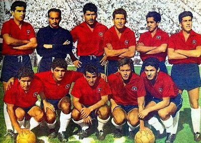 EQUIPOS DE FÚTBOL: CHILE Selección contra Italia 02/06/1962