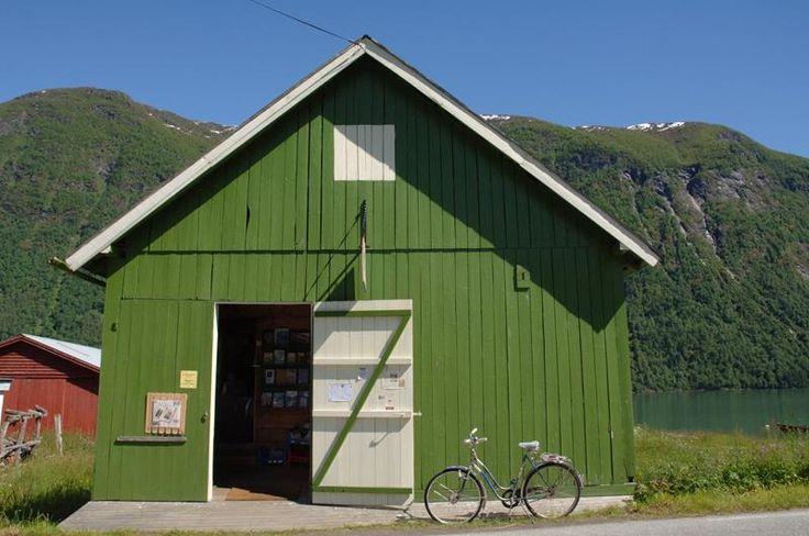 "The Norwegian Book Town, Mundal, Fjærland, Norway. ""Den norske bokbyen"" stocks 4 kilometres of second-hand books in unique old buildings."