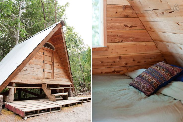 A frame rustic off grid cabin airbnb pinterest for Rustic a frame cabin