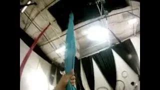 danza aerea en telas (go pro cam) - YouTube