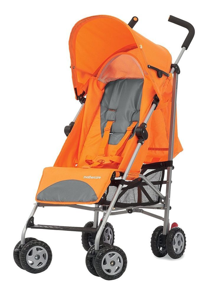 This great value 4 Wheels Orange Lightweight Stroller is suitable from birth and features a multi-position seat recline which is easily adjusted if your little one wants to lie back for a nap or sit more upright when wide awake.