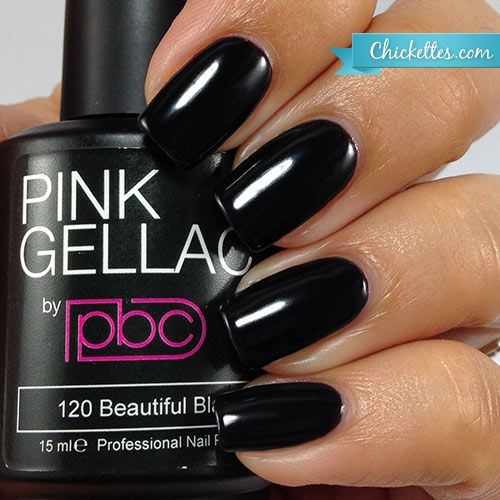 Pink Gellac #120 Beautiful Black available at Chickettes Boutique