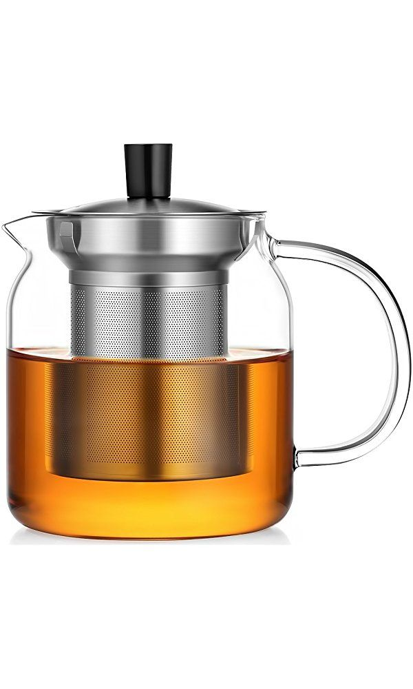 Ecooe Glass Teapot 24 Oz Loose Leaf Tea Maker With Stainless Steel Infuser Stovetop Safe Tea Kettle Best Price