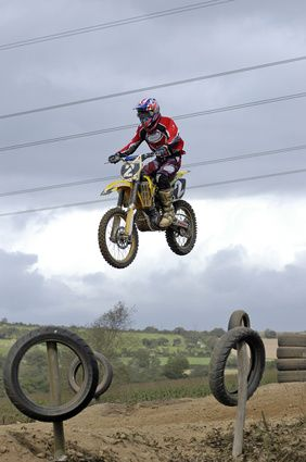 Motocross training for fitness.
