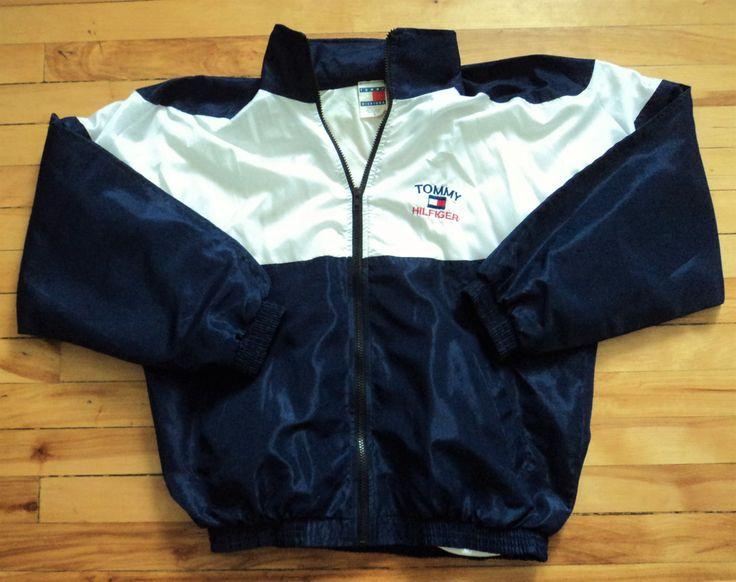 Vintage Tommy Hilfiger Small Zip-Up Light Jacket VTG by StreetwearAndVintage on Etsy