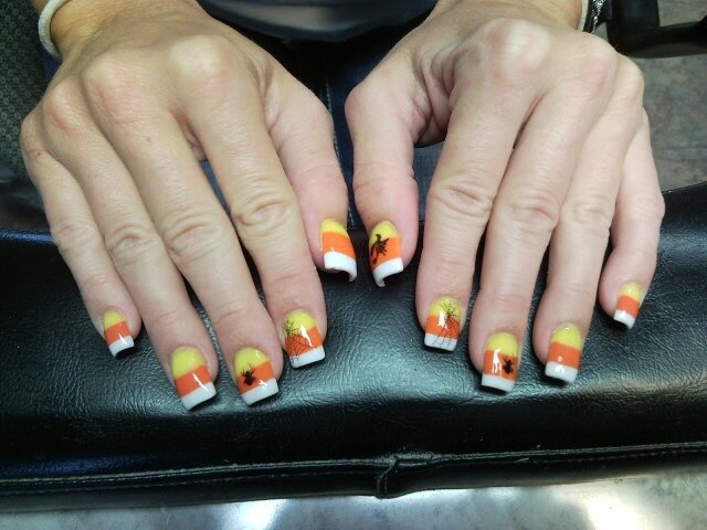 Konad halloween nail art : My halloween candy corn nails nail art idea i had