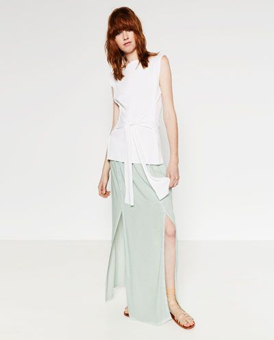 Image 1 of LONG SKIRT WITH LACE TRIM from Zara