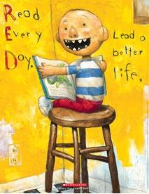 "No, David! author and illustrator David Shannon on what it means to ""Read Every Day. Lead a Better Life."" #books"