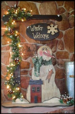 Christmas primitive crafts | Primitive Wood Craft Pat... | Holiday and Crafts