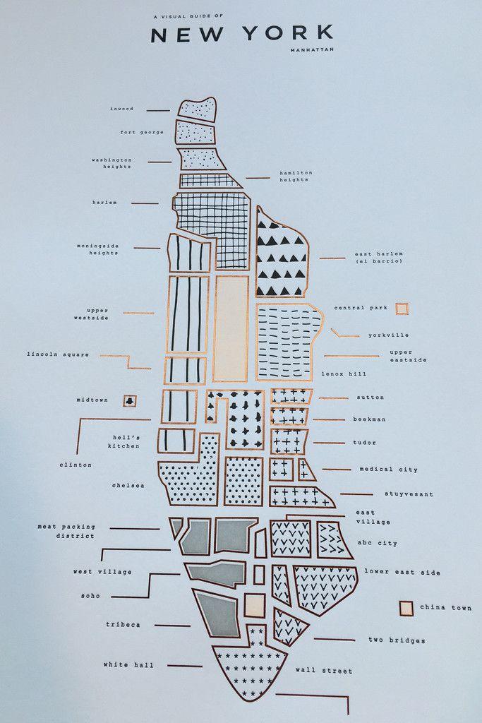 42 Pressed New York map print.                                                                                                                                                                                 もっと見る