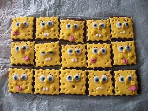 SpongeBob SquarePants Cookies | Kawaii Foods