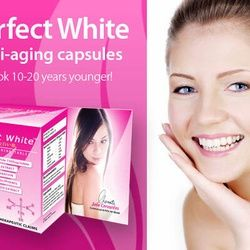 Perfect White Anti-aging capsules Manufactured By Natures Way Look 10-20 years younger 100% organic and natural 30 capsules Price AU$50.00