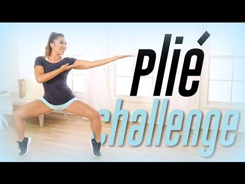 8/30/16 first 4.5 min, 9/8/16 complete Plie Squat Challenge!   Thigh Workout - YouTube