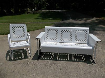 Vintage Jr Bunting Glider Co Patio Furniture Set Curls
